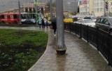 На тротуарах запрещается, установка рекламных конструкций и других временных сооружений